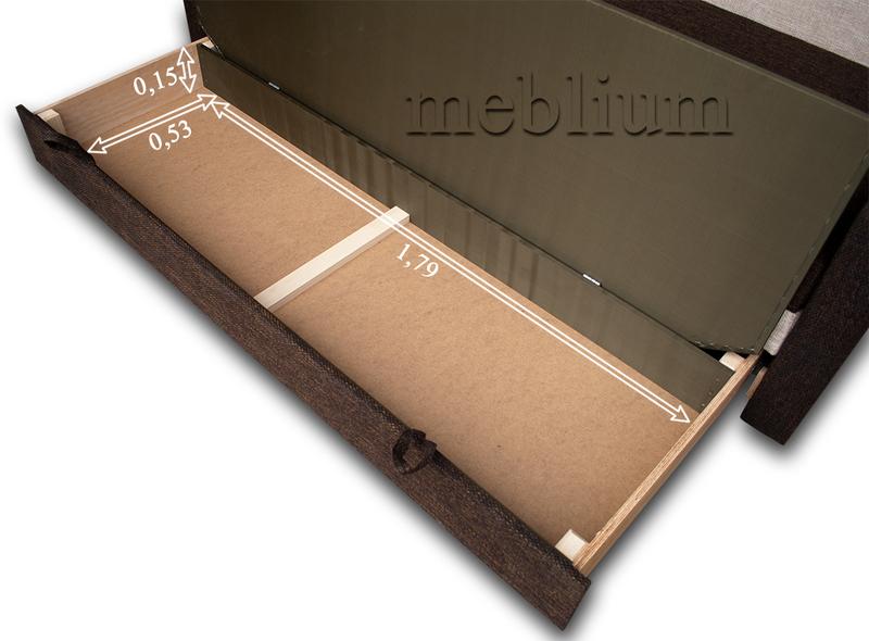 Диван Meblium 27-3 анабель кор Розміри ніши для білизни: