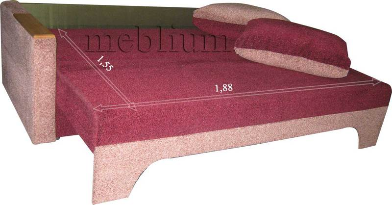 Meblium 12-3 соната Диван Meblium 12-3 в разложенном виде: