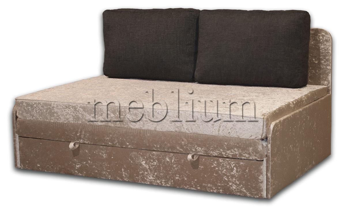 Диван Омега 160 -42 ТАКЖЕ ЭТУ МОДЕЛЬ ЗАКАЗЫВАЛИ В ТКАНИ : Велюр беж, подушки - черный