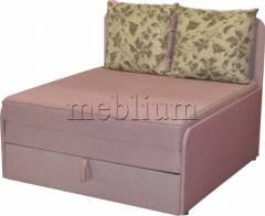 Диван Омега 1,00-42 комэт розовый, подушки бязь цветы ТАКЖЕ ЭТУ МОДЕЛЬ ЗАКАЗИВАЛИ В ТКАНИ: комэт розовый, подушки бязь цветы