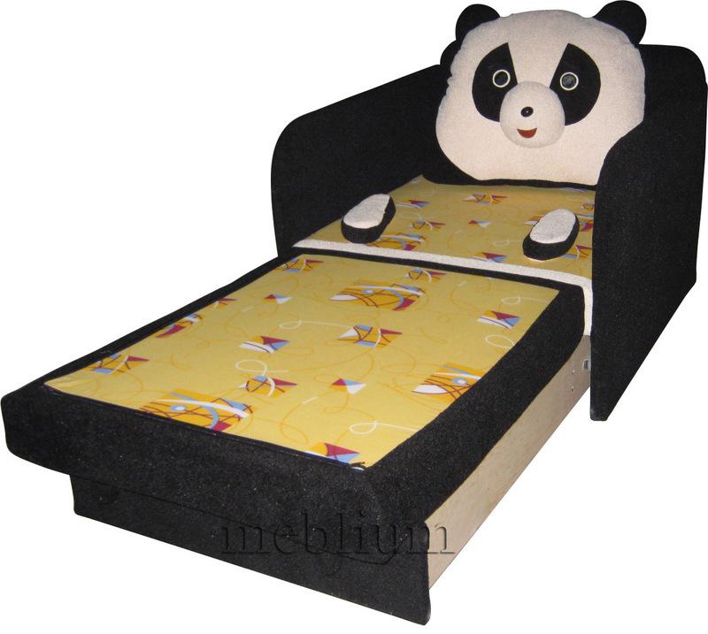 Детский диван Панда -3 в розложеном виде: