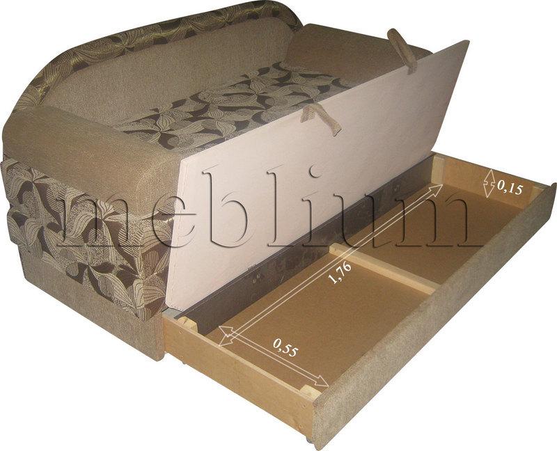 (СНЯТО С ПРОИЗВОДСТВА) Диван Париж 1 томас 623     Размеры ниши для белья: