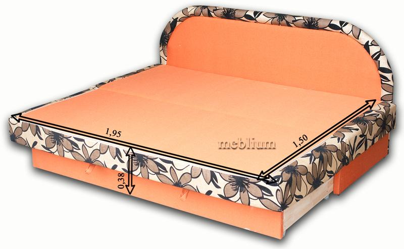 (СНЯТО С ПРОИЗВОДСТВА) Диван Париж 1 люкс танго оранж Диван Париж 1 люкс в разложенном виде: