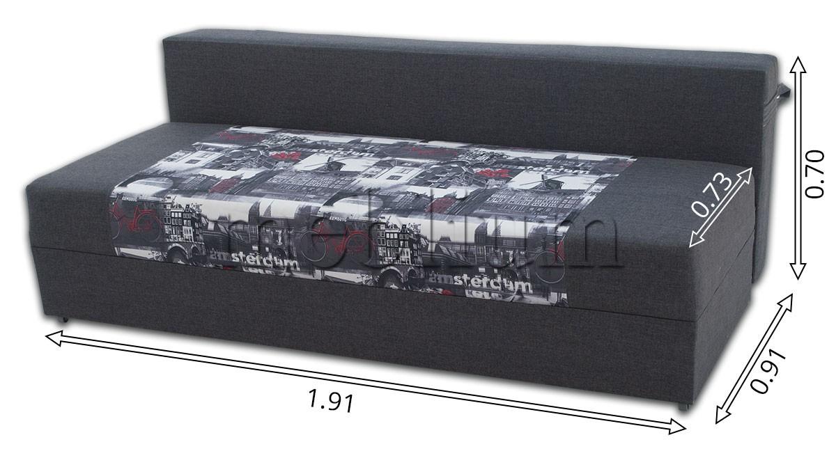 Диван Рима ЭКО -84 Саванна Грей + Париж серый