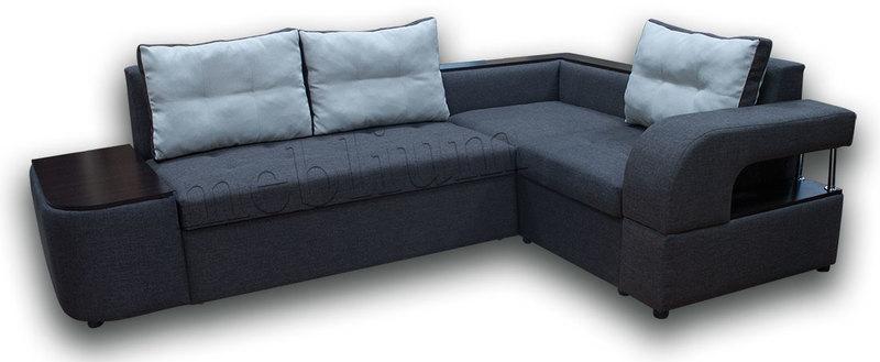 Угловой диван Голливуд -76 ТАКЖЕ ЭТУ МОДЕЛЬ ЗАКАЗЫВАЛИ В ТКАНИ : весь диван -Саванна кофе 04