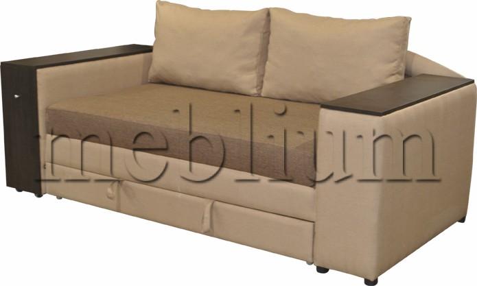 Диван Кения (+ниша+столик) -10 Основа: саванна хезел, координат: саванна: кемел