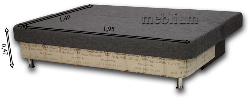 Диван Meblium 28-3 сакура Диван Meblium 28-3 в розкладеному вигляді: