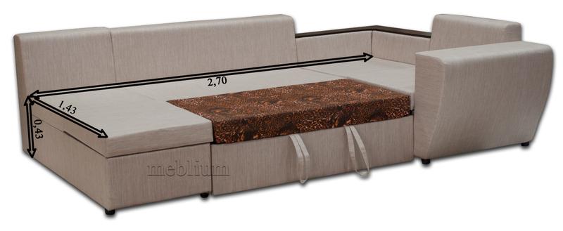 Угловой диван П-образный Цезарь -42 Габаритные размеры спального места