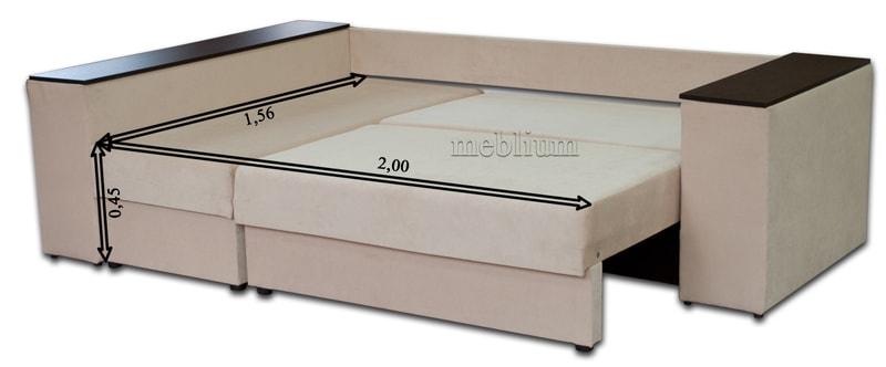 Угловой диван Оксфорд -42 Габаритные размеры спального места