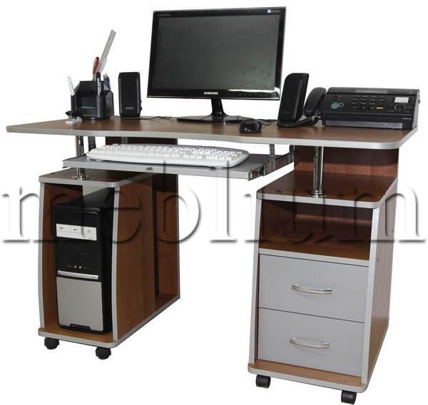 Компьютерный стол Гемера-20 вишня Ника-Гемера-20
