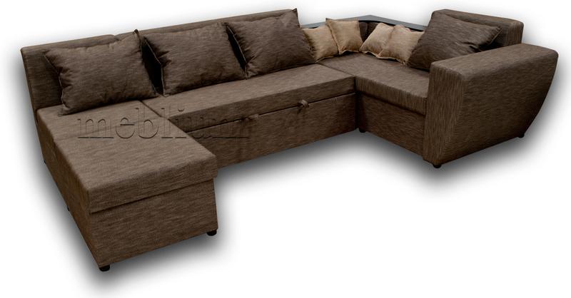 Угловой диван П-образный Цезарь -42 ТАКЖЕ ЭТУ МОДЕЛЬ ЗАКАЗЫВАЛИ В ТКАНИ :Весь диван - Лючия 029