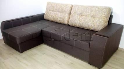 Угловой диван Лорд с открытым боком -3 Ткань: Etna_Kofe