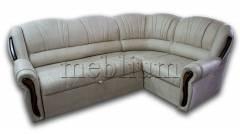 Угловой диван Лорд-90 Велюр бежевый Вариант обивки: Велюр бежевый