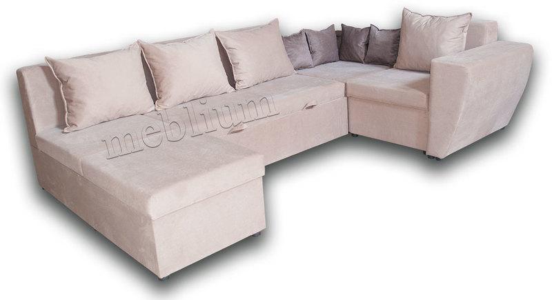Угловой диван П-образный Цезарь -42 ТАКЖЕ ЭТУ МОДЕЛЬ ЗАКАЗЫВАЛИ В ТКАНИ :весь диван - Нитекс Шагги Мокка (Арбен)