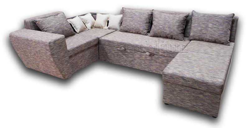 Угловой диван П-образный Цезарь -42 ТАКЖЕ ЭТУ МОДЕЛЬ ЗАКАЗЫВАЛИ В ТКАНИ :Весь диван - Лючия 072