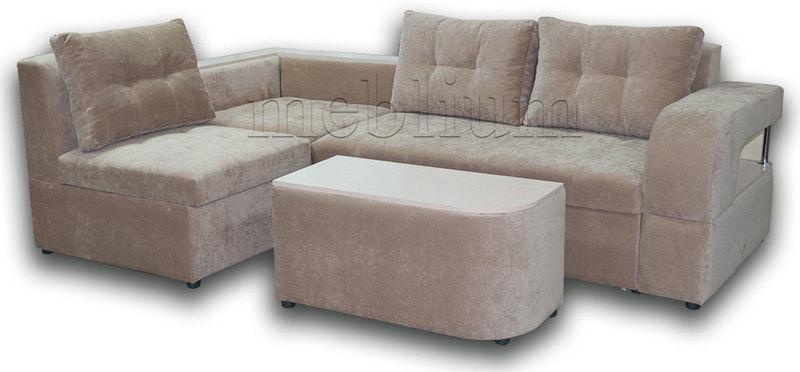 Угловой диван Голливуд -76 ТАКЖЕ ЭТУ МОДЕЛЬ ЗАКАЗЫВАЛИ В ТКАНИ : весь диван -Энерджи Беж (Арбен)