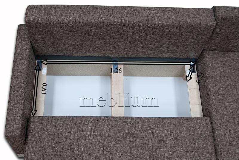 Угловой диван Эко универсал -64 Ниша для белья