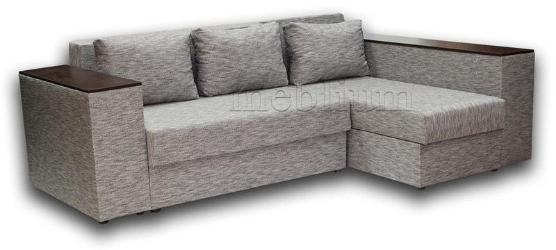 Угловой диван Оксфорд -42 ТАКЖЕ ЭТУ МОДЕЛЬ ЗАКАЗЫВАЛИ В ТКАНИ :весь диван - Лючия 050
