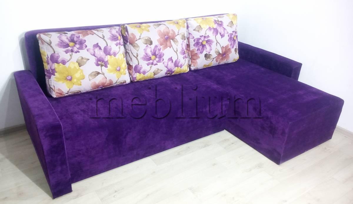 Угловой диван Эко универсал -64 Ткань: Lira16_Katanija05_fioletovyj