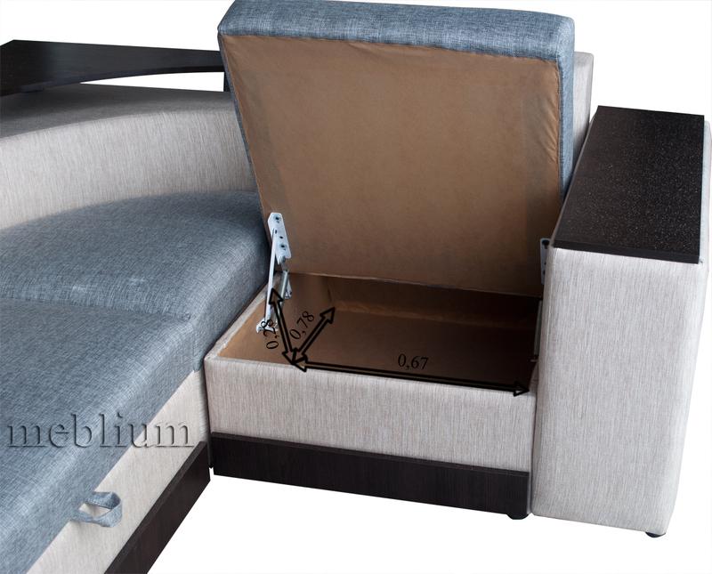 Кутовий диван Вашингтон New-10 Ніша для білизни