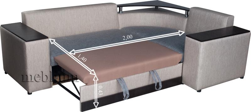 Кутовий диван Вашингтон New-10 В розкладеному вигляді