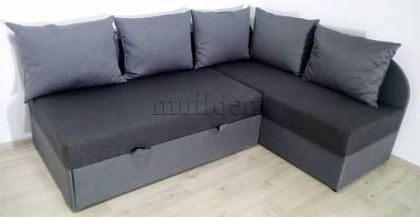 Кутовий диван Ніжність-28 Тканина: Grafit