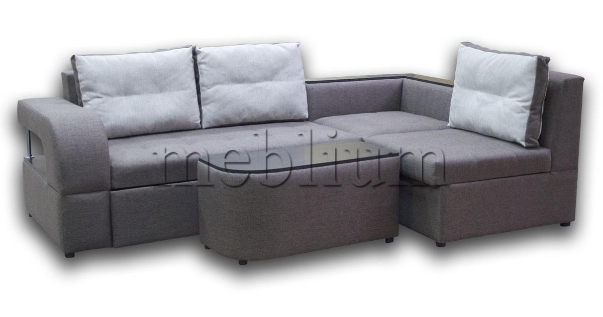 Угловой диван Голливуд -76 ТАКЖЕ ЭТУ МОДЕЛЬ ЗАКАЗЫВАЛИ В ТКАНИ : весь диван-Hugo prune, подушки-Hugo cream