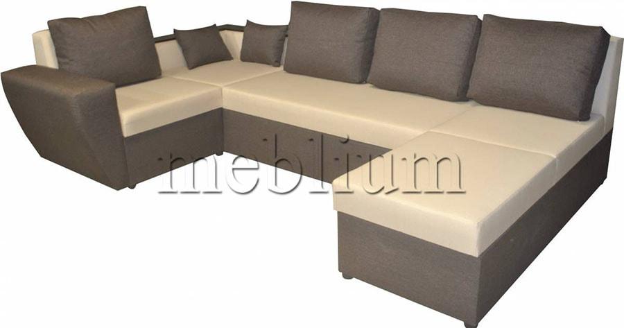 Угловой диван П-образный Цезарь -42 ТАКЖЕ ЭТУ МОДЕЛЬ ЗАКАЗЫВАЛИ В ТКАНИ : Савана милк Савана Хезел