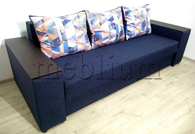 Диван Максимус -89 (Большое спальное место+Ниши в быльцах) Blue
