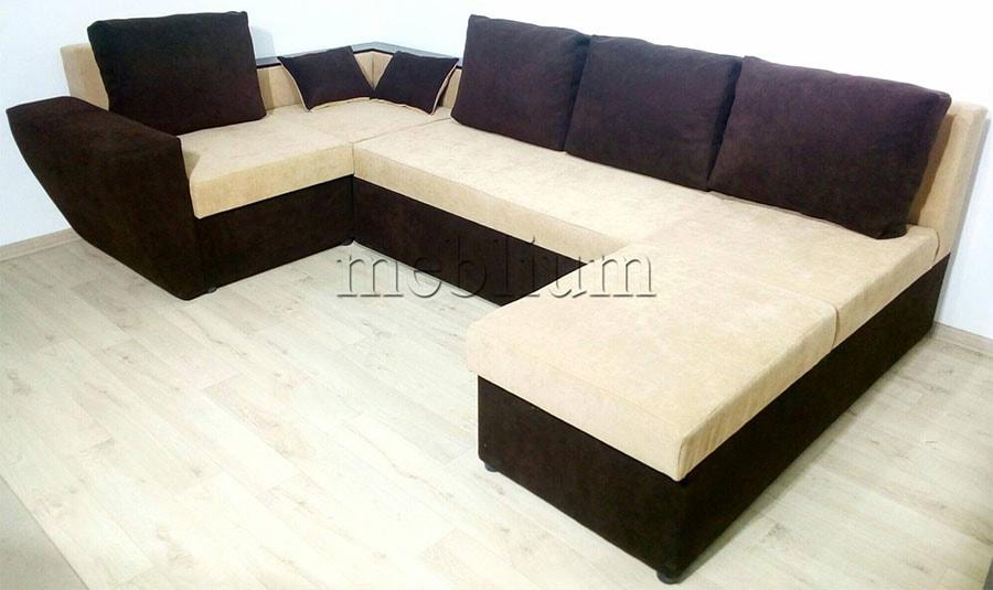 Угловой диван П-образный Цезарь -42 Ткань: Santa_Lam