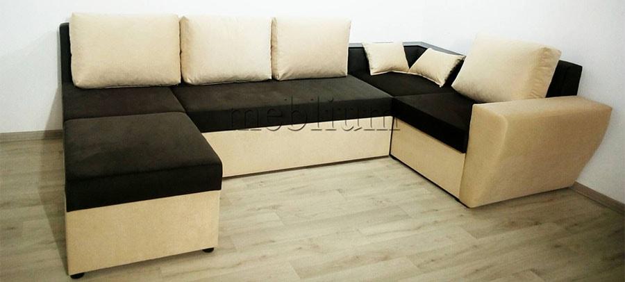 Угловой диван П-образный Цезарь -42 Ткань: Schahi
