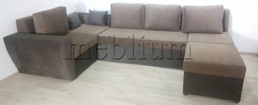Угловой диван П-образный Цезарь -42 Ткань: Shagi