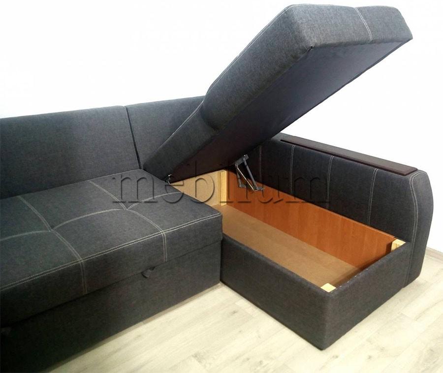 Угловой диван Лорето (+быльце ниша) -3 Ниша для белья
