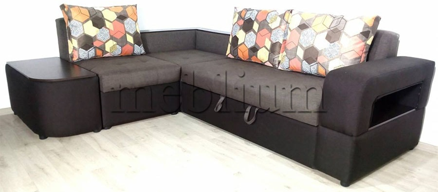 Угловой диван Голливуд -76 Ткань: Savanna_Biter_Cofe