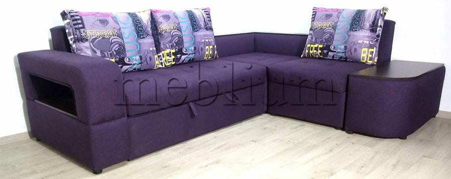 Угловой диван Голливуд -76 Ткань: Violet_Music