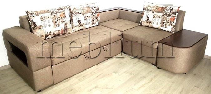 Угловой диван Голливуд -76 Ткань: Tvist_schoko_Amsterdam