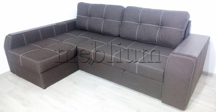 Угловой диван Лорето (+быльце ниша) -3 Ткань: Lux12_Kor