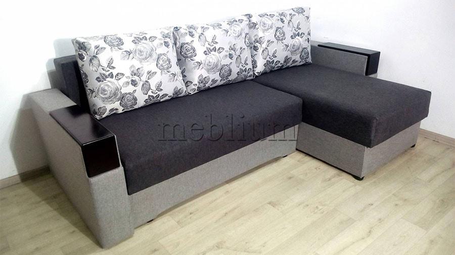 Угловой диван Орхидея универсал -3 Ткань: Siryj 3