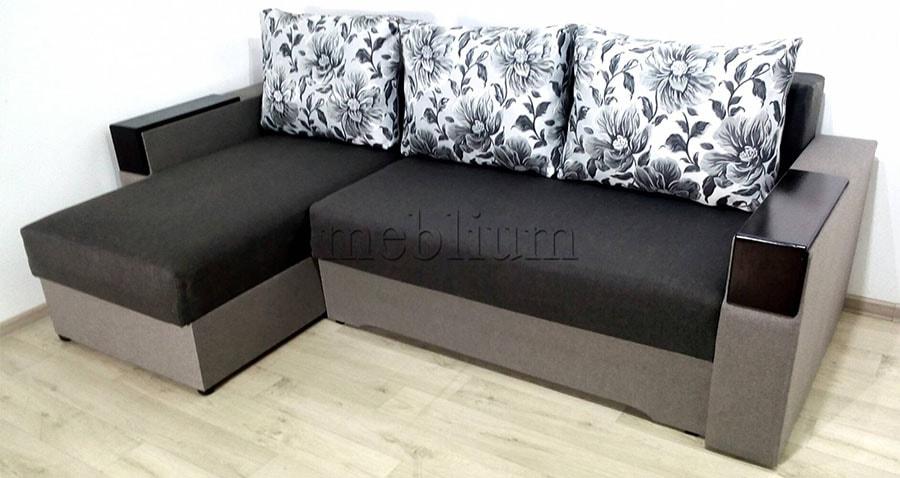 Угловой диван Орхидея универсал -3 Ткань: Seryj