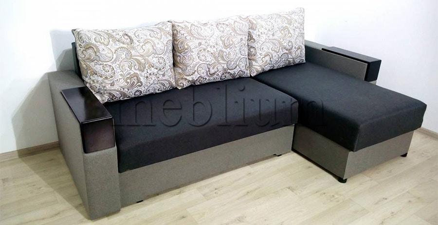 Угловой диван Орхидея универсал -3 Ткань: Siryj 2
