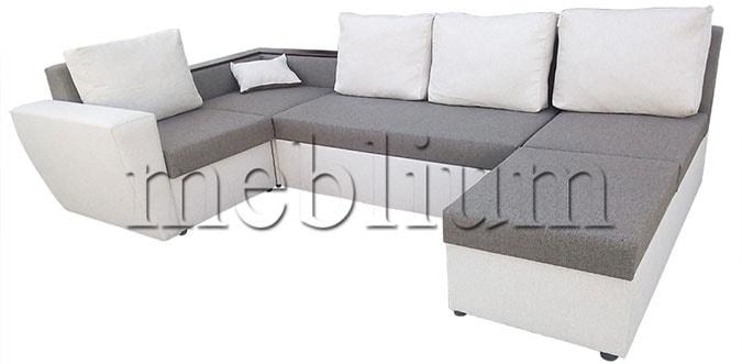 Угловой диван П-образный Цезарь -42 Korychnevo_belyj