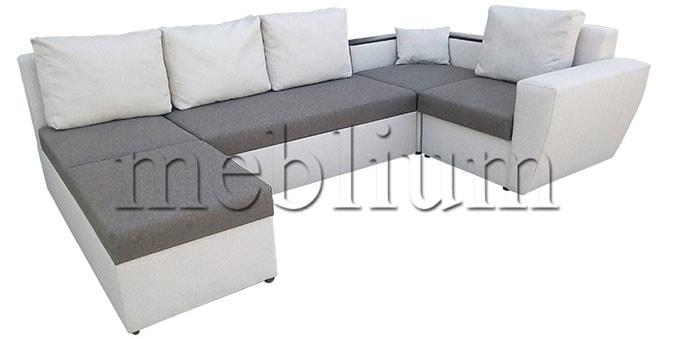 Угловой диван П-образный Цезарь -42 Korychnevo_belyj_2