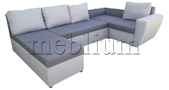 Угловой диван П-образный Цезарь -42 Seryj_svetloseryj