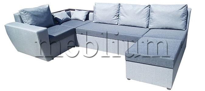 Угловой диван П-образный Цезарь -42 Seryj_svetloseryj_2