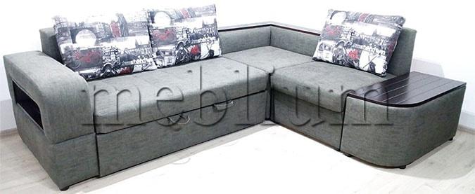 Угловой диван Голливуд -76 ТАКЖЕ ЭТУ МОДЕЛЬ ЗАКАЗЫВАЛИ В ТКАНИ: Холст грей + Амстердам графит