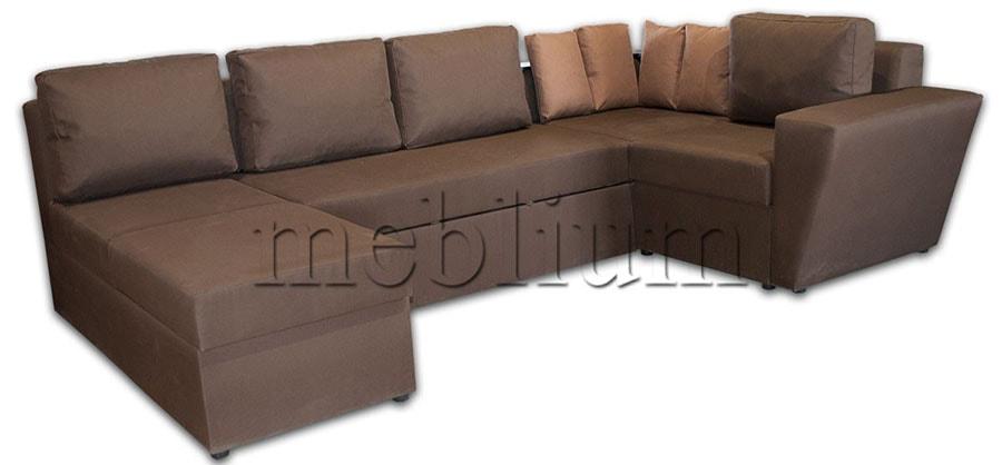 Угловой диван П-образный Цезарь -42 ТАКЖЕ ЭТУ МОДЕЛЬ ЗАКАЗЫВАЛИ В ТКАНИ :нео шоколад + нео браун