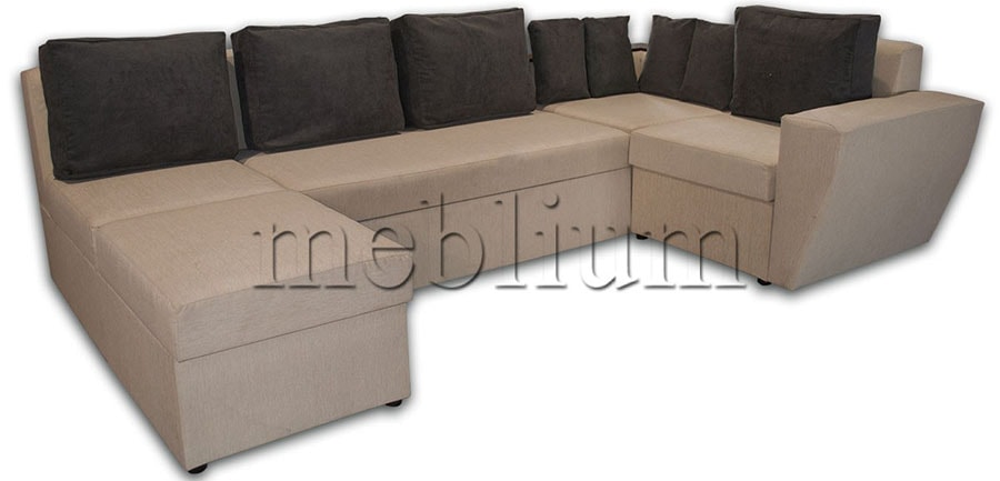 Угловой диван П-образный Цезарь -42 ТАКЖЕ ЭТУ МОДЕЛЬ ЗАКАЗЫВАЛИ В ТКАНИ :весь диван - филипо, подушки - тс 662