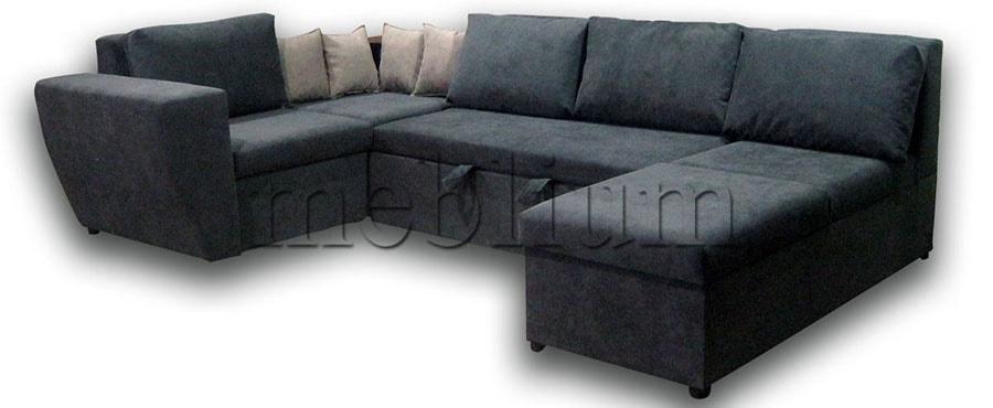 Угловой диван П-образный Цезарь -42 ТАКЖЕ ЭТУ МОДЕЛЬ ЗАКАЗЫВАЛИ В ТКАНИ :основа - ТС 662, координат - ТС 661