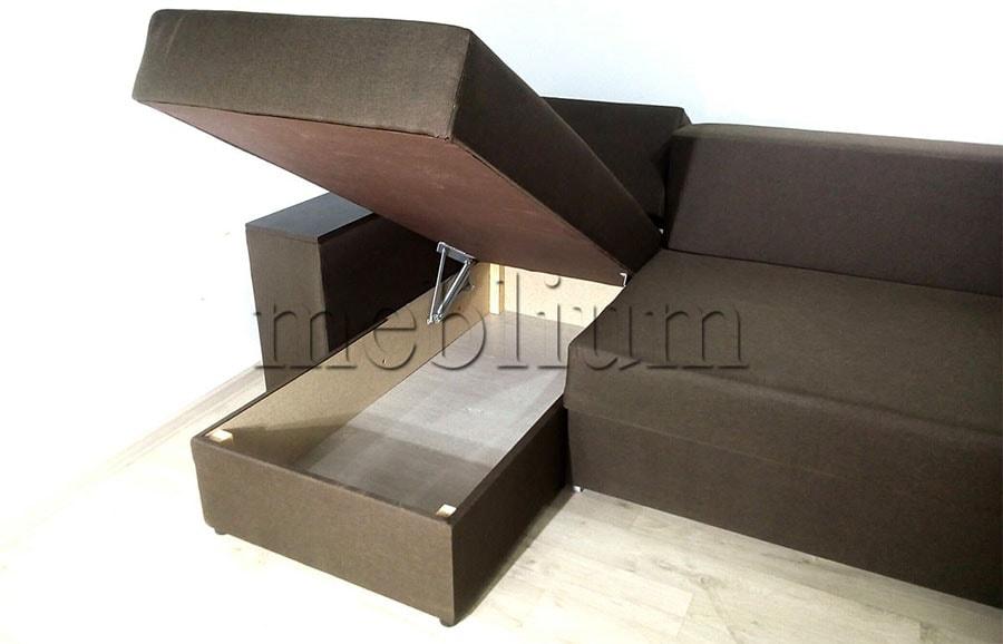 Угловой диван Мастер -89 Ниша для белья