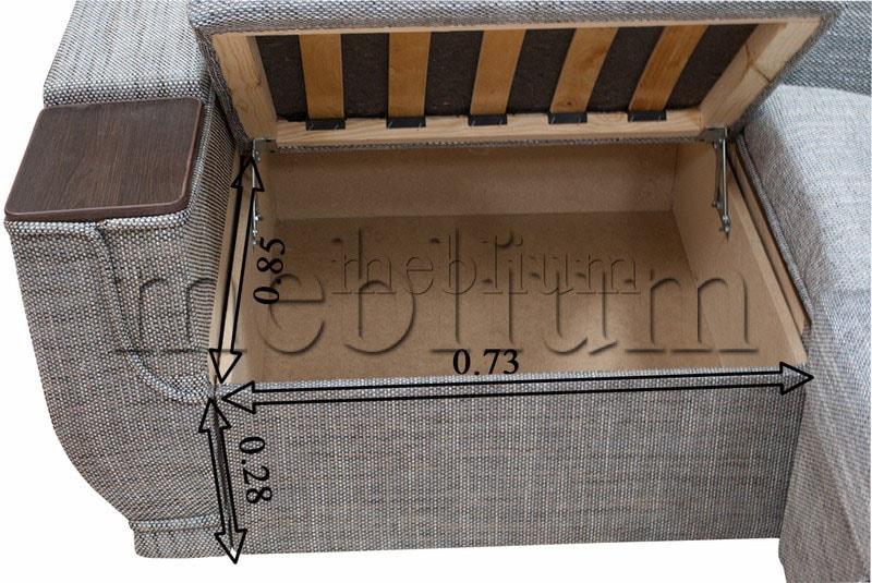 Угловой диван Эксо универсал -64 Ниша 1: